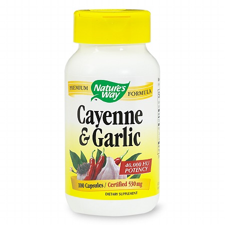 Nature's Way Cayenne & Garlic, Capsules - 100 ea