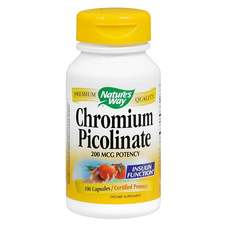 Nature's Way Chromium Picolinate 200 mcg Dietary Supplement Capsules - 100 ea