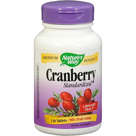 Nature's Way Cranberry Standardized Dietary Supplement Tablets - 120 ea
