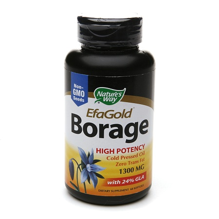 Nature's Way EFA Gold Borage, 1300mg, Softgels - 60 ea
