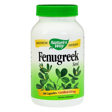 Nature's Way Fenugreek Seed Dietary Supplement 610 mg Capsules - 180 ea