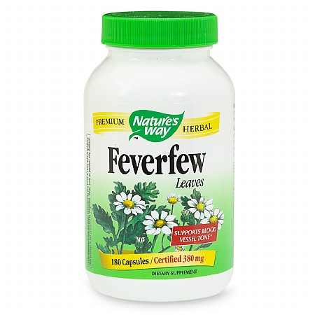 Nature's Way Feverfew Leaves 380 mg, Capsules - 180 ea