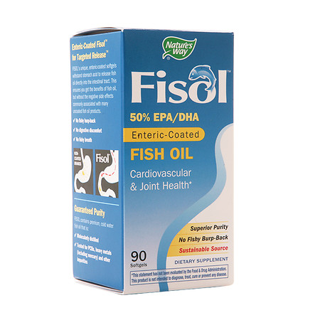 Nature's Way Fisol Fish Oil 500 mg Dietary Supplement Softgels - 90 ea