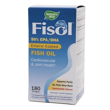 Nature's Way Fisol Fish Oil, Softgels - 180 ea