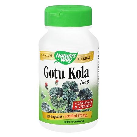 Nature's Way Gotu Kola 475 mg Dietary Supplement Capsules - 100 ea