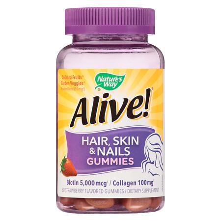 Nature's Way Hair, Skin & Nails Multi-Vitamin Gummies Strawberry - 60 ea