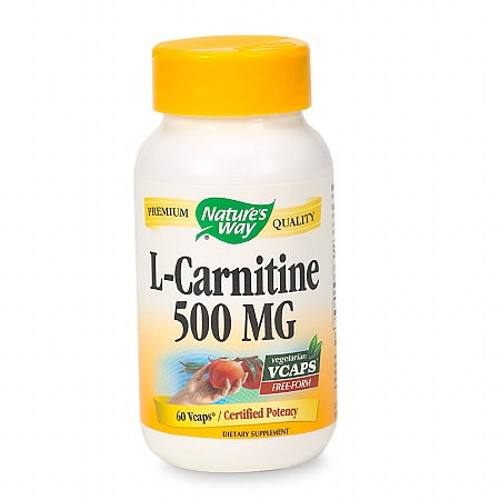 Nature's Way L-Carnitine 500 mg Dietary Supplement Vcaps - 60 ea