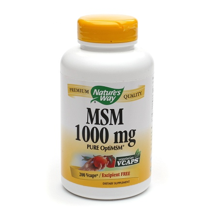 Nature's Way MSM 1000 mg Dietary Supplement Tablets - 200 ea