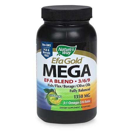 Nature's Way Maximum Strength Mega 369 Omega Blend 1350 mg Dietary Supplement Softgels - 90 ea