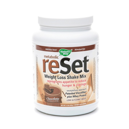 Nature's Way Metabolic Reset Weight Loss Shake Mix Chocolate - 22.4 oz.