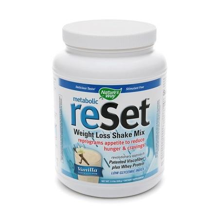 Nature's Way Metabolic Reset Weight Loss Shake Mix Vanilla - 22.4 oz.