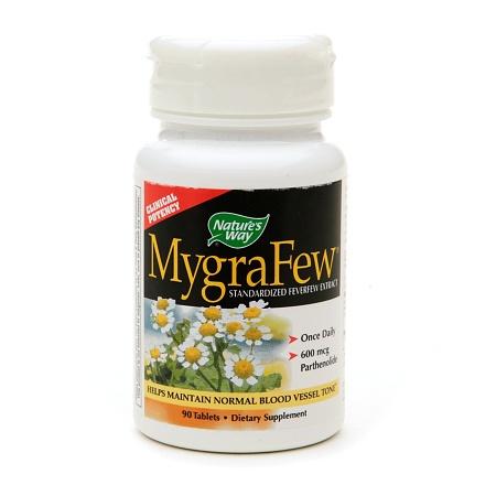 Nature's Way MygraFew, Standardized Feverfew Extract, Tablets - 90 ea
