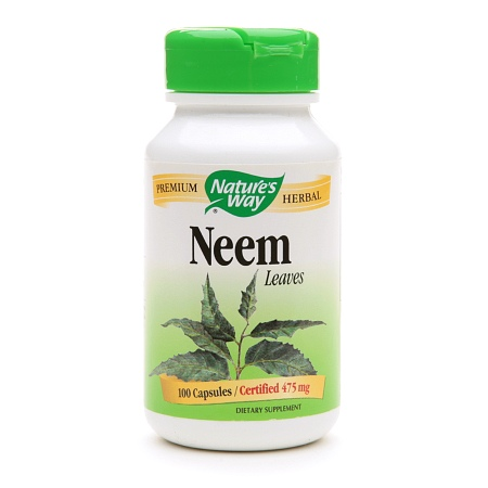 Nature's Way Neem Leaves 475mg, Capsules - 100 ea