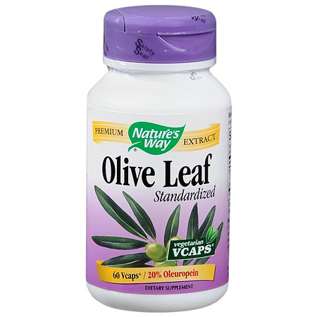 Nature's Way Olive Leaf Standardized Dietary Supplement Vegetarian Vcaps - 60 ea