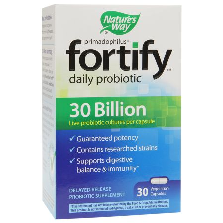 Nature's Way Primadophilus Fortify Daily Probiotic 30 Billion, Vegetarian Capsules - 30 ea
