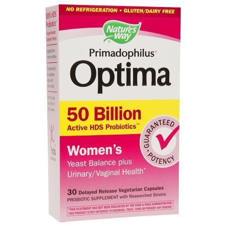 Nature's Way Primadophilus Optima Women's 50 Billion, Vegetarian Capsules - 30 ea