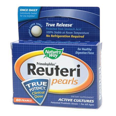 Nature's Way Primadophilus Reuteri Pearls Probiotic Supplement - 60 ea