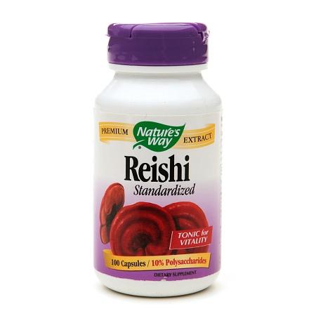 Nature's Way Reishi Standardized, Capsules - 100 ea