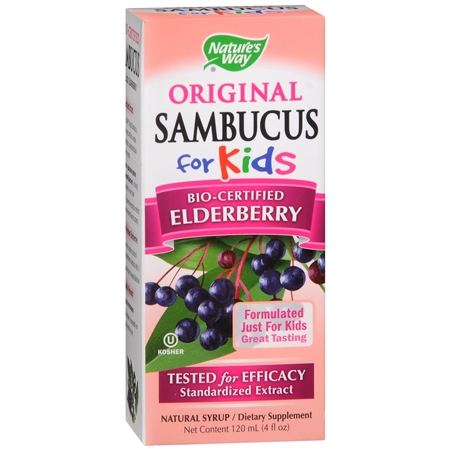 Nature's Way Sambucus for Kids Dietary Supplement Syrup Elderberry - 4 fl oz