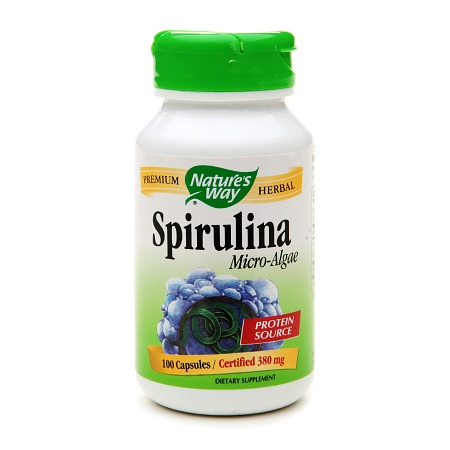 Nature's Way Spirulina Micro-Algae 380mg, Capsules - 100 ea