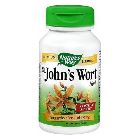 Nature's Way St. John's Wart 350 mg Positive Mood Dietary Supplement Capsules - 100 ea