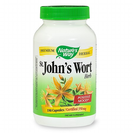 Nature's Way St. John's Wort Herb 350 mg Dietary Supplement Capsules - 180 ea