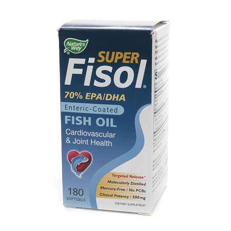 Nature's Way Super Fisol Enteric-Coated Fish Oil - 180 ea