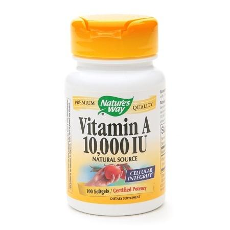 Nature's Way Vitamin A 10,000 IU, Softgels - 100 ea