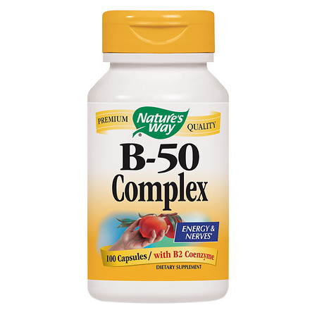 Nature's Way Vitamin B-50 Complex Dietary Supplement Capsules - 100 ea