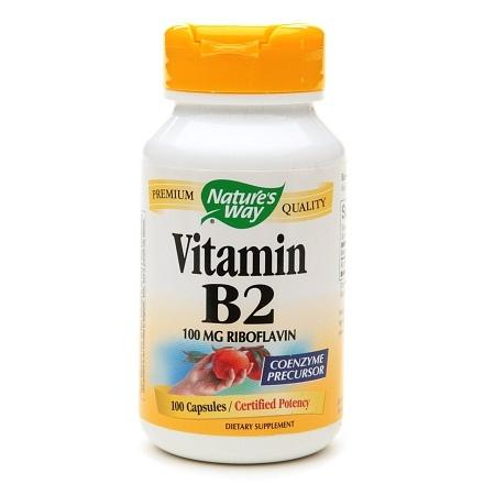 Nature's Way Vitamin B2 Dietary Supplement Capsules - 100 ea