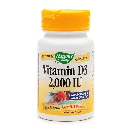 Nature's Way Vitamin D3 2000 IU, Softgel - 120 ea