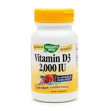 Nature's Way Vitamin D3 2000 IU, Softgels - 240 ea