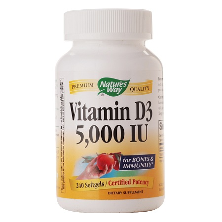 Nature's Way Vitamin D3 5000 IU, Softgels - 240 ea