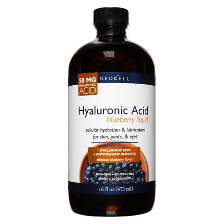 NeoCell Hyaluronic Acid Blueberry Liquid - 16 oz.