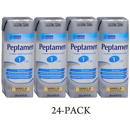Nestle Complete Peptide-Based Formula 1 Cal 24 Pack Vanilla - 250 fl oz