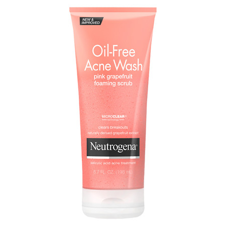 Neutrogena Oil-Free Acne Wash Foaming Scrub Pink Grapefruit - 6.7 fl oz