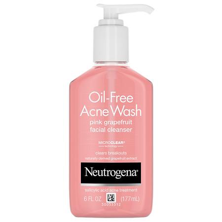 Neutrogena Oil-Free Acne Wash Pink Grapefruit Facial Cleanser - 6 fl oz