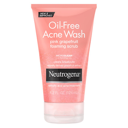 Neutrogena Oil-Free Acne Wash Pink Grapefruit Foaming Scrub - 4.2 fl oz