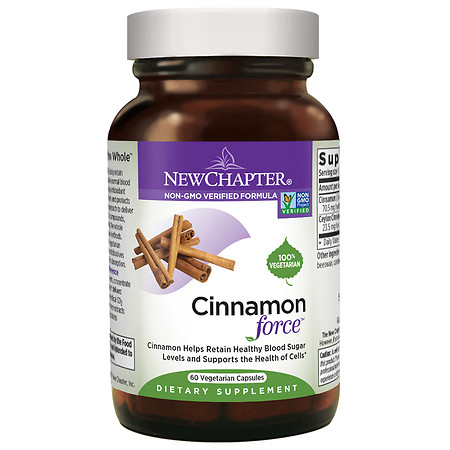 New Chapter Cinnamon Force, Vegetarian Capsules - 60 ea
