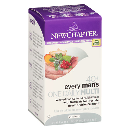 New Chapter Every Man's 40+ One Daily Multi Tablets - 24 ea