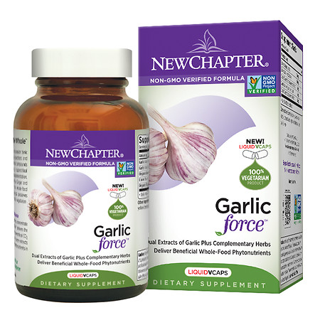 New Chapter Garlic Force, Vegetarian Capsules - 30 ea