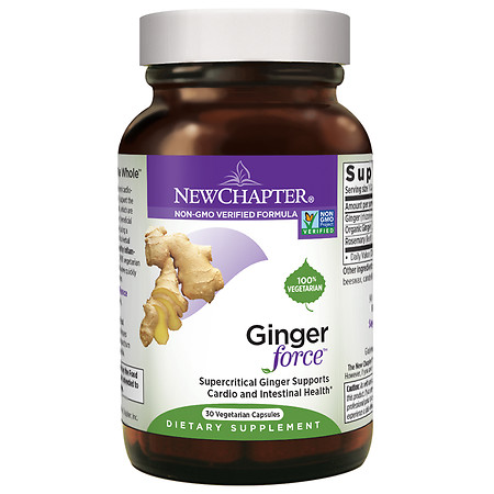 New Chapter Ginger Force, Vegetarian Capsules - 30 ea