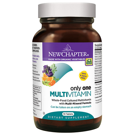 New Chapter Only One Multivitamin, Tablets - 72 ea