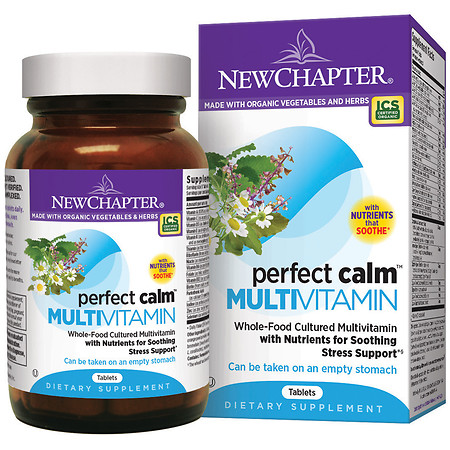 New Chapter Perfect Calm Multi Vitamin, Tablets - 72 ea