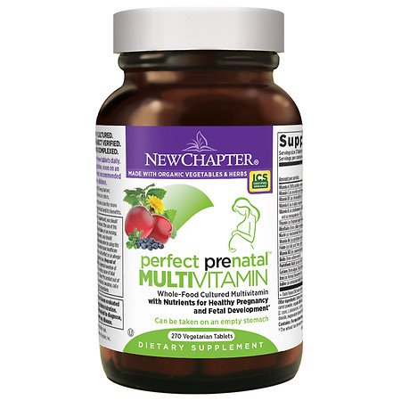 New Chapter Perfect Prenatal Multivitamin, Tablets - 270 ea