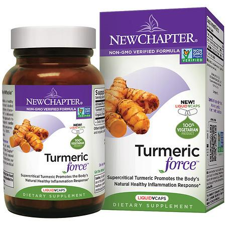 New Chapter Turmeric Force, Vegetarian Capsules - 30 ea