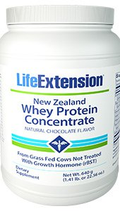 New Zealand Whey Protein Concentrate (Natural Chocolate Flavor), 640 grams (1.41 lb. or 22.56 oz.)