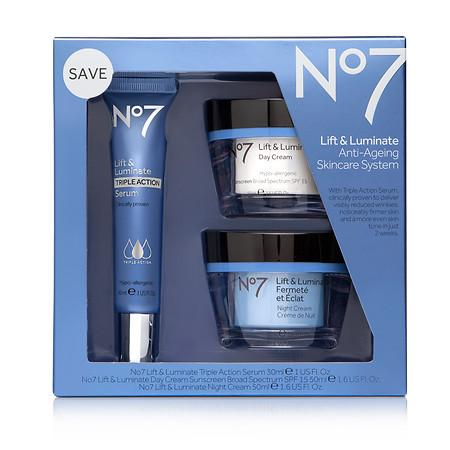 No7 Lift and Luminate Triple Action Skincare System Kit - 1 Ea