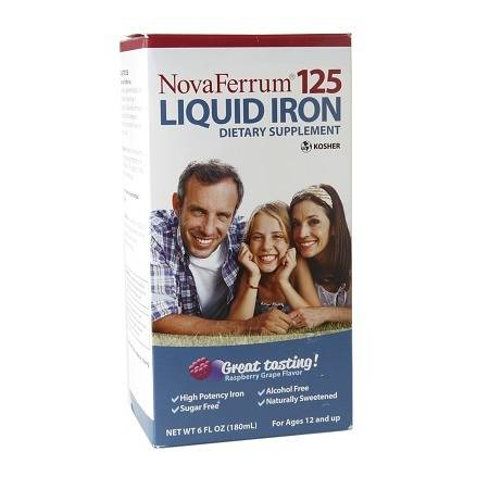 NovaFerrum 125 Liquid Iron Supplement Raspberry Grape - 6 fl oz
