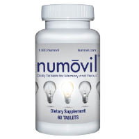 Numovil Memory, Concentration & Focus Brain Supplement with NAC, DMAE, and Bacopa - 1 Year Supply